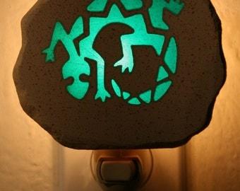 Green Lizard Nightlight