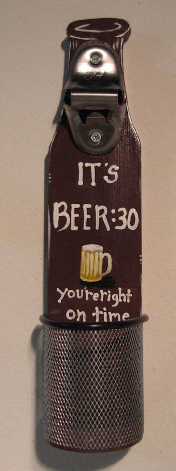 Beer bottle opener wall mounted with cap catcher - Wall mounted beer bottle opener cap catcher ...