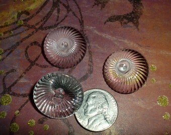 Vintage Glass Like  Buttons,  Cone Spiral Gallaxy Destash Supplies