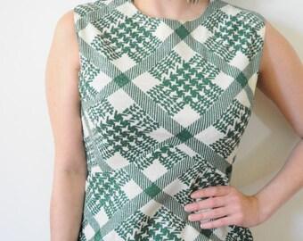 SALE 1970's DRESS Green Maxi Gown Metallic Vintage Goddess Dress by A Windsor Dress Size Large