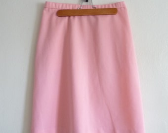 coral pink pastel midi skirt, small