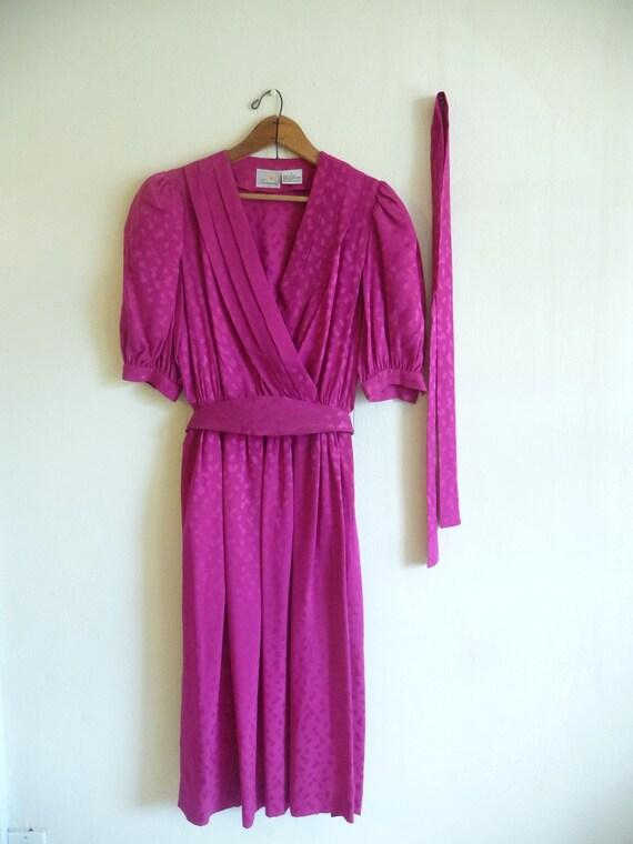 lotus pink silk dress, medium m