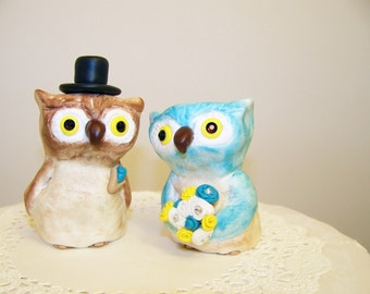 Wedding Cake Topper Owls - Choice of Colors