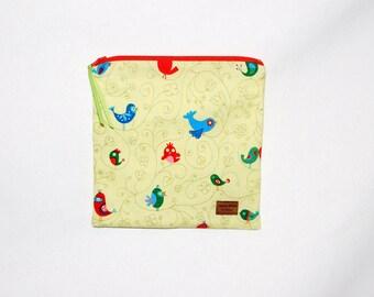 Sandwich Size Reusable Bag - Songbirds