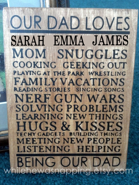 Personalized Our Dad Loves... Subway Art Plaque