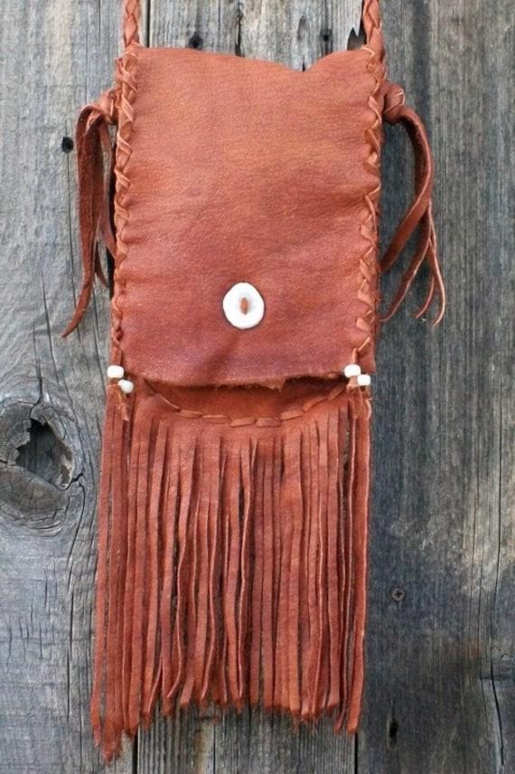 Leather Fringed Purse 89