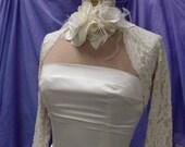 Bridal Cover Up, Wedding Shrug, Bolero Shrug, Lace Bridal Bolero, Lace Jacket