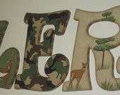 "CUSTOM LISTING for MateDiane Letter ""B"" Hunting Theme with Moose"