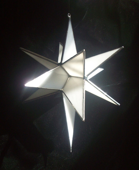 Stained Glass Bethlehem Star - 3D 12 point