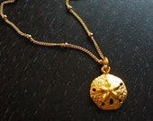 24K Gold Vermeil Sand Dollar Necklace