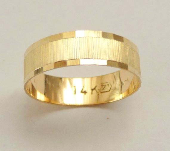 Gold Wedding Band Men Wedding Ring Mm Wide Ring For Women Geometric