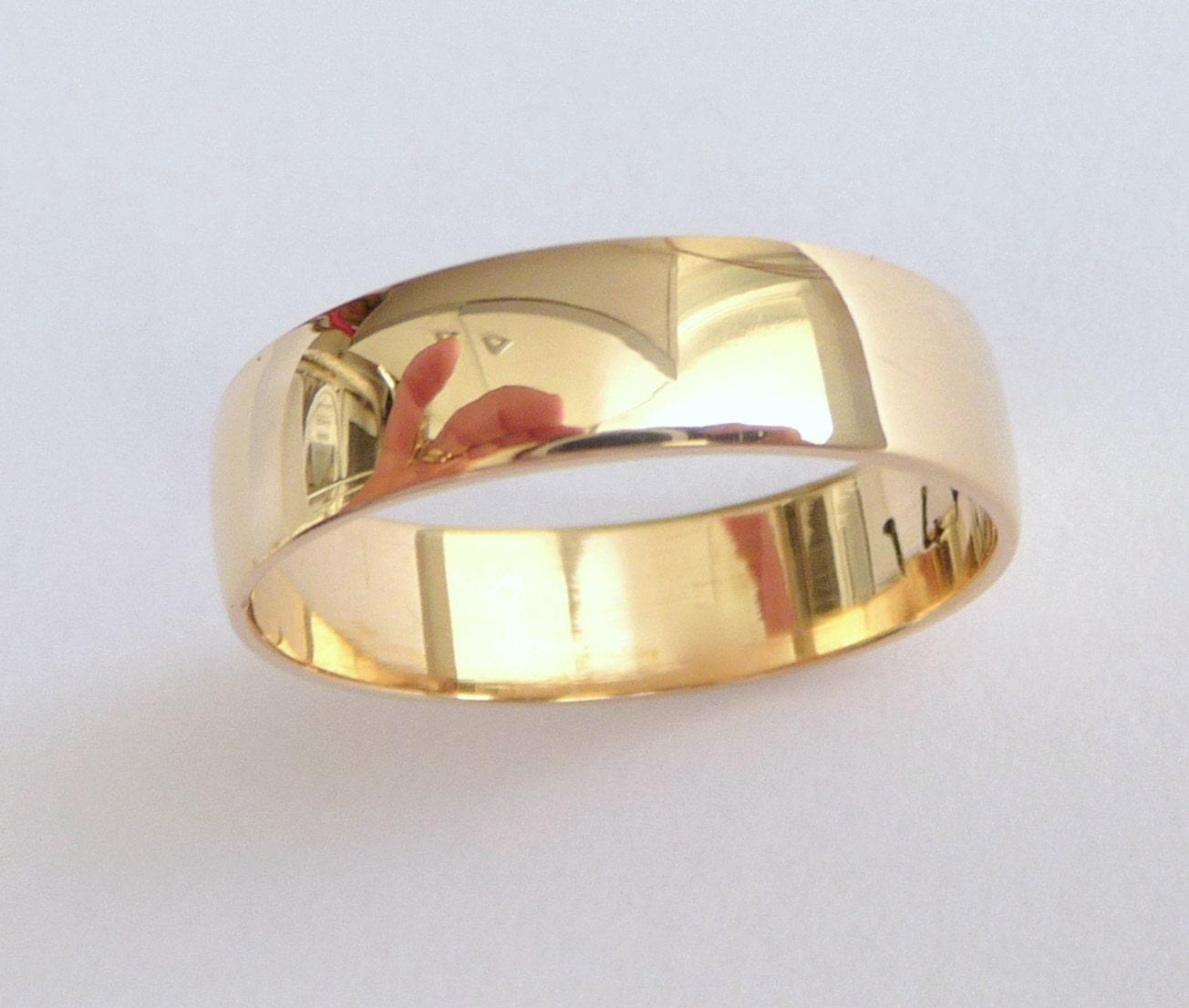 Mens Wedding Band Shiny Classic Ring Women