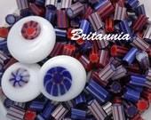 lampwork supplies, handmade murrini,  Britannia CoE 104 glass