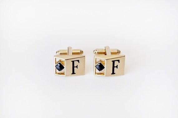 Vintage F Monogram Cufflinks