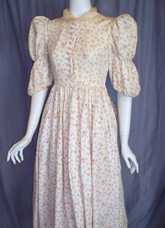 Calico Vintage Prairie Dress Costume Western Reenactment Gown