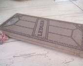 Vintage  Journal Ledger 1938 Paper Ephemera Handwritten Ledger Pages Cardboard Covered Journal Book Decor