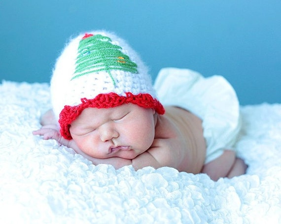 PDF Christmas Tree Hat CROCHET PATTERN All Sizes By