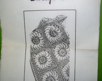 Vintage Crocheted Flower Afghan Pattern - Design 469