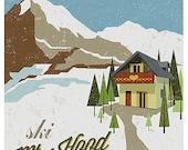 Ski Mt. Hood Oregon Print