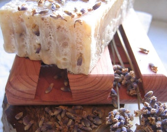 Organic Lavender Handmade Cold Process Soap- Lavender Grown on-site - Chemical Free- Only Essential Oils Used 2-3 oz. bar handcut