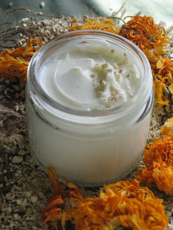 Organic Marshmallow Honey Face Cream made with Infused Organic Marshmallow Root & Local Unrefined Honey - After Sun Care 2oz