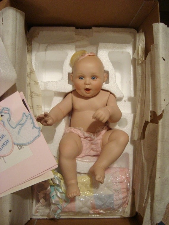 Special Delivery Porcelain Doll By Titus Tomescu Baby Boxed