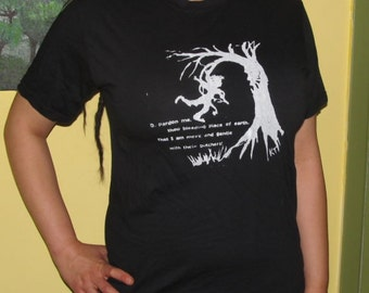 Small Ent Tree Shirt - pardon me, thou bleeding piece of earth, I am meek and gentle w/these butchers, Unisex Tshirt  - Shakespeare Art