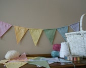 Shhh it's a Pastel Fabric Banner Rainbows Everybody love's a Rainbow Bunting by InYourBones