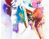 Chanel Fashion Print, Fashion Illustration Print, Watercolor Painting, Fashion Art, Chanel, Fashion Sketch, Fashion gift, Fashion wall art