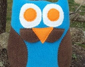 Mustache Owl Pillow - Plush Mustache Owl - Owl Plushie - Owl with Stache