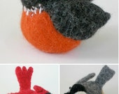 PATTERN-BOOKLET. A Knit & Felt Wool Birds Pattern