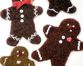 P A T T E R N. A Knit & Felt Wool Gingerbread Cookie Pattern