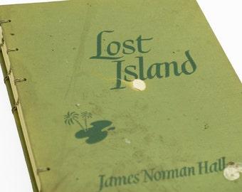 1944 LOST ISLAND Vintage Book Journal Notebook