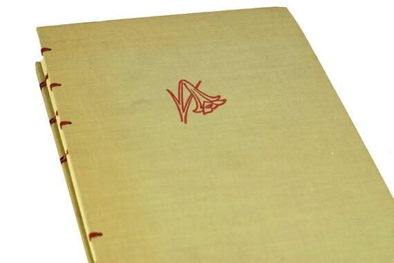 1944 SCARLET LILY Vintage Notebook Journal