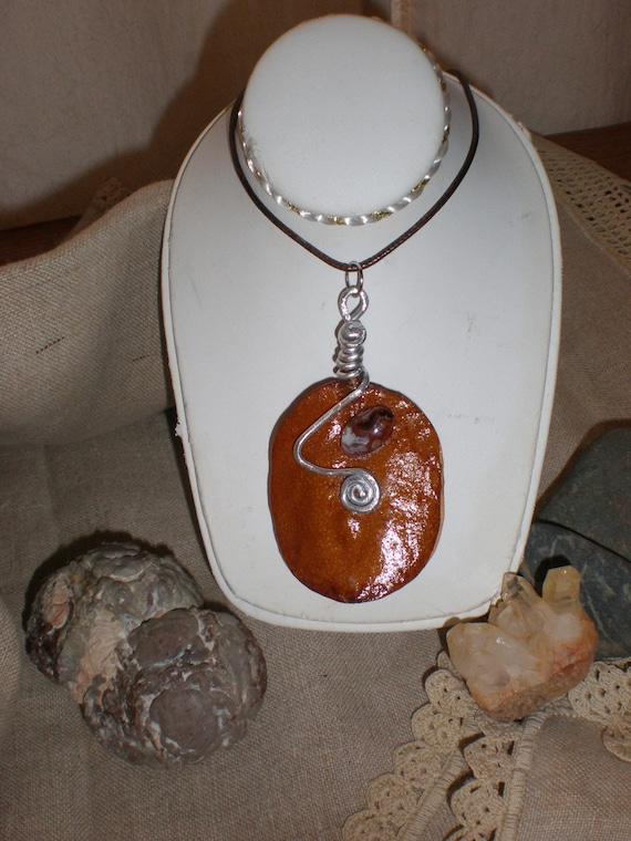 Exotic seed pod calder inspired pendant natural by for Natural seeds for jewelry making