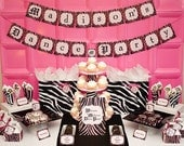 ZEBRA CHIC Collection - Printable Party Decorations