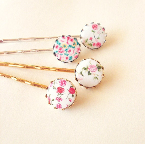 50% OFF SALE Floral Bobby Pins Floral Hair Pins Floral Hair Clips Floral Hair Accessories Flower Hair Clips Flower Hair Pins Bobby Pins