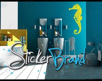 Vinyl Wall Decal Sticker Seahorse 702