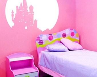 Vinyl Wall Art Decal Sticker Castle over Moon Ktudor102s