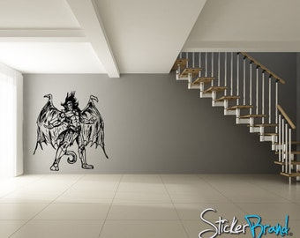 Vinyl Wall Decal Sticker Angels and Demons 776m