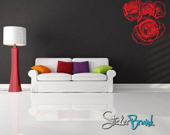 Vinyl Wall Decal Sticker Flower Floral Item808s