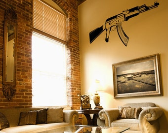 Vinyl Wall Decal Sticker AK-47  JH265s