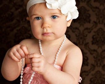 baptism headband, infant baptism headbands, christening headband, white baptism headband