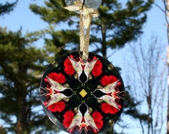 Hummingbird Glass Suncatcher Boho Chic Mandala New Age Sacred Geometry Hippie Kaleidoscope Mod Gypsy Bohemian Unique Gift Tiny Dancer