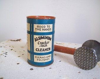 Antique kitchen cleanser Cracker Jack Aluminum Cleaner NOS unopened kitchen collectable must see