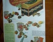 Antique 30s Leyendecker Deco Lady Print  Whitmans Chocolate Ad Post Magazine 1931
