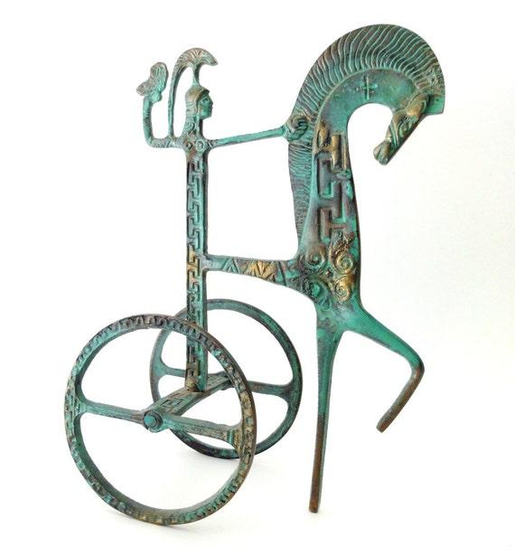 Vintage Modernist Chariot Goddess Athena Frederick Weinberg Style