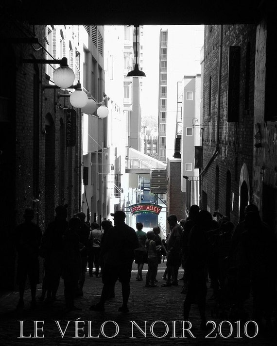 Seattle, Washington State, Pike Place Market,Post Alley, 8x10 UNMATTED fine art print