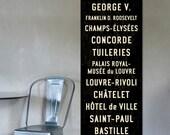 PARIS Wall Art, Paris Subway Art, Paris Art, Subway Sign, Vintage French Poster, Paris Wall Decor, French Wall Art, Travel Art.