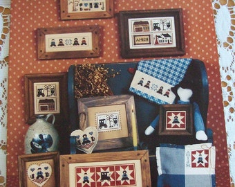 Pattern Homespun Elegance LTD Leaflet The Amish V Miniatures Cross Stitch Designs by Sandra Sullivan